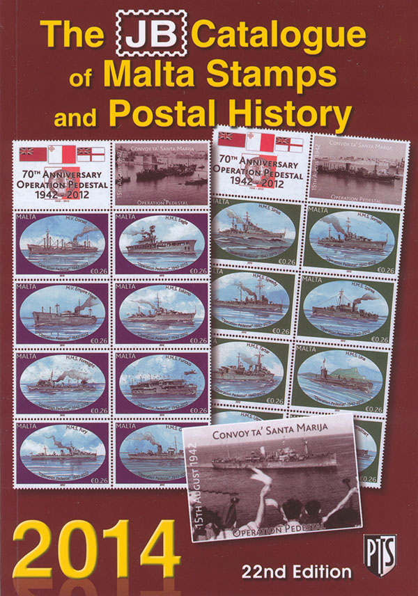 Buy The 22nd Edition Of JB Catalogue Malta Stamps And Postal History